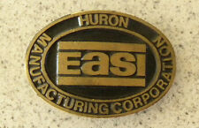 Huron Manufacturing Construction Equipment Easi-Mining,Paving Brass Belt Buckle