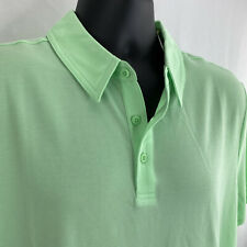 All In Motion Men's XXL Pique Golf Polo Quick-Dry Moisture-Wicking Light Green