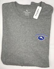 Tommy Bahama Mens Crew Neck T-Shirt 2XLT Gray Fringe Watching Cotton NEW