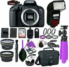 Canon EOS Rebel T7i Digital SLR Camera Body with Automatic Flash
