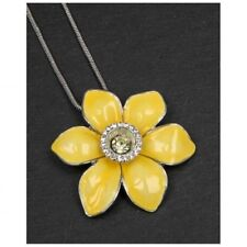 Daffodil Necklace By Equilibrium Daffodil pendant On Snake Chain