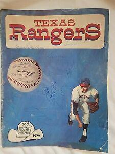 Signed 1972 Texas Rangers Program & Scorecard vs.Cleveland Indians, UNSCORED,