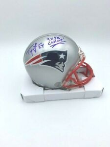 Ty Law Signed Signed New England Patriots Mini Helmet 3 x SuperBowl Champ COA