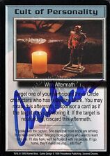 BABYLON 5 CCG Card Andreas Katsulas (1946-2006) Cult of Personality AUTOGRAPHED