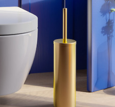 Bathroom  Accessories SUS304 Brushed Gold Toilet Brush Holder Set Free Standing