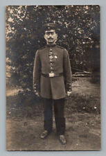 WW1 Antique GERMAN Real Photo RPPC Postcard SOLDIER w/ IRON CROSS & OTHER MEDAL