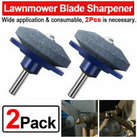 2PACK Lawn Mower Faster Blade Sharpener Grinding Power Drill Grinder Garden Tool