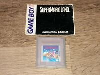 Super Mario Land w/Manual Nintendo Game Boy Tested Authentic