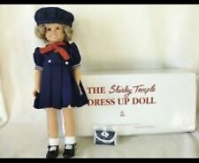 "Shirley Temple Doll 17"" Dress Up VINLY Doll By Danbury Mint Vintage New In Box"