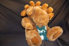 "Brown Moose Antlers Green Scarf Large Plush 15"" Stuffed Lovey Toy"