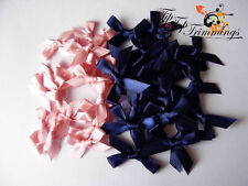 Venta de liquidación 20 satén Azul Marino Arcos + 20 Musky satén rosa arcos 99P