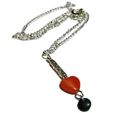 Gorgeous Fall Glass Heart Necklace By SoniaMcD