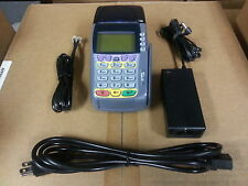 VERIFONE OMNI 3740 CREDIT CARD TERMINAL - Complete Set w/ Warranty - 3750 3730