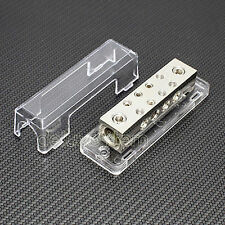 Car Stereo Audio Distribution Block Two 0/2 Ga In 8 8/10/12 Ga Out Inline Wire