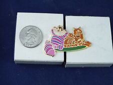DISNEY PIN CHESHIRE CAT WITH YELLOW TABBY CAT LE 250