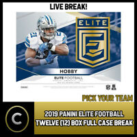 2019 DONRUSS ELITE FOOTBALL 12 BOX (FULL CASE) BREAK #F484 - PICK YOUR TEAM