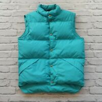 Vintage LL Bean Quilted Down Vest Size M Made in USA