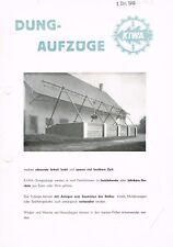 KIWA Dungaufzüge, orig. Prospekt 1949