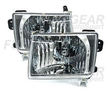 CHROME CLEAR CRYSTAL EURO HEADLIGHT PAIR SET FOR NISSAN FRONTIER 1998-2000
