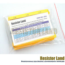 600pcs 30Value 20pcs Each 1% 1/4W Metal Film Resistor Assortment Kit