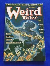 WEIRD TALES. SEPTEMBER, 1941 - FIRST EDITION ROBERT BLOCH STORY
