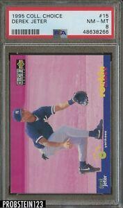 1995 Collector's Choice #15 Derek Jeter New York Yankees HOF PSA 8 NM-MT