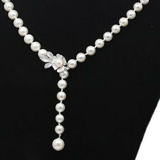 Jewelry Pearl & Sterling Silver 925 Flower Magneic Drop Contact Clasp 15x27mm