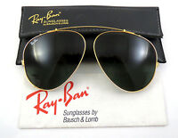 Vintage B&L Ray Ban USA Bausch & Lomb G15 Aviator 62mm Clip On Sunglasses W Case