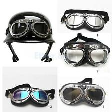 Motorcycle Biker Riding Safety Silver Lens Paded Sun Glasses Goggles