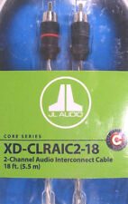 JL Audio XD-CLRAIC2-18 2-Channel RCA Cable 18ft (5.49 m) Audio Interconnect NEW