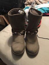 Girls OSHKOSH Tan Winter Boot size 10 zipper side Fair Shape See Photos