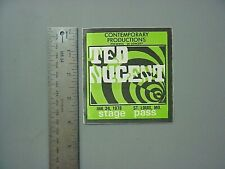 Ted Nugent backstage pass AUTHENTIC June 24, 1978 St Louis, MO RARE!
