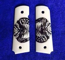 Colt 1911 Grips White Gun Resin Custom COBRA Eye Full Size Kimber Clones Taurus