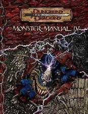 D&D Supplement: Monster Manual IV by Gwendolyn F. M. Kestrol (2006, Hardcover)b1