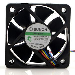 Sunon KDE1205PHVX DC12V 1.9W 4 Pin Case/CPU Cooling Fans 50x50x15mm