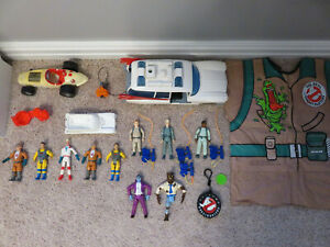 Vintage Kenner The Real Ghostbusters Lot Peter Ray Egon Winston Ecto-1 Dracula