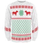 Dachshund Ugly Christmas Sweater All Over Adult Long Sleeve T-Shirt