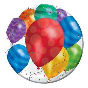 """Balloon Blast 8 Dinner Plates 8.75"""" Birthday Party"""