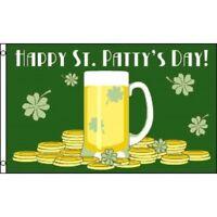 3x5 Happy St Pattys Day Flag Saint Patricks Ireland Holiday Irish Banner Outdoor