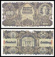 AUSTRIA 100 SCHILLING 1945 P:118  Scarce aUNC ***