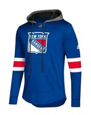 Adidas NHL New York Rangers Jersey Pullover Hoodie Men's Small Blue NEW $100