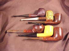 BRIAR  PIPES,  LOT OF FIVE + 1 NICE CORNCOB VERY GOOD OVERALL CONDITION