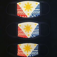 Philippines Flag Tattoo Face Mask Adult Washable Filipino Facemask Tribal Pinoy