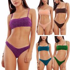 Bikini donna costume mare fascia glitter lurex costume brasiliana TOOCOOL B20012
