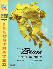 1964 12/5 NFL Football Program, Green Bay Packers @ Chicago Bears FAIR