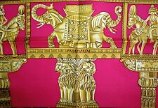 Beautiful HERMES TORANA hindu scarf carre 100% SILK FRANCE carre foulard blue