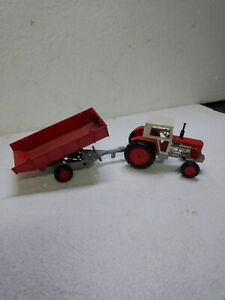 matchbox Lesney superkings k-35 massy- ferguson  tractor and trailer