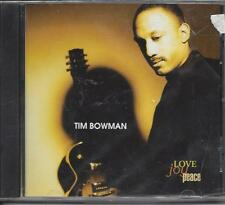 TIM BOWMAN  Love Joy Peace  New Sealed  1996 guitar jazz CD