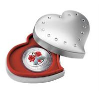 2014 Niue -  Love Is Precious Silver Coin 1 oz - White Swans