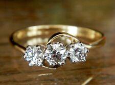 Art Deco 18ct Gold & Platinum 0.67 TCW Diamond Twist Ring Size R